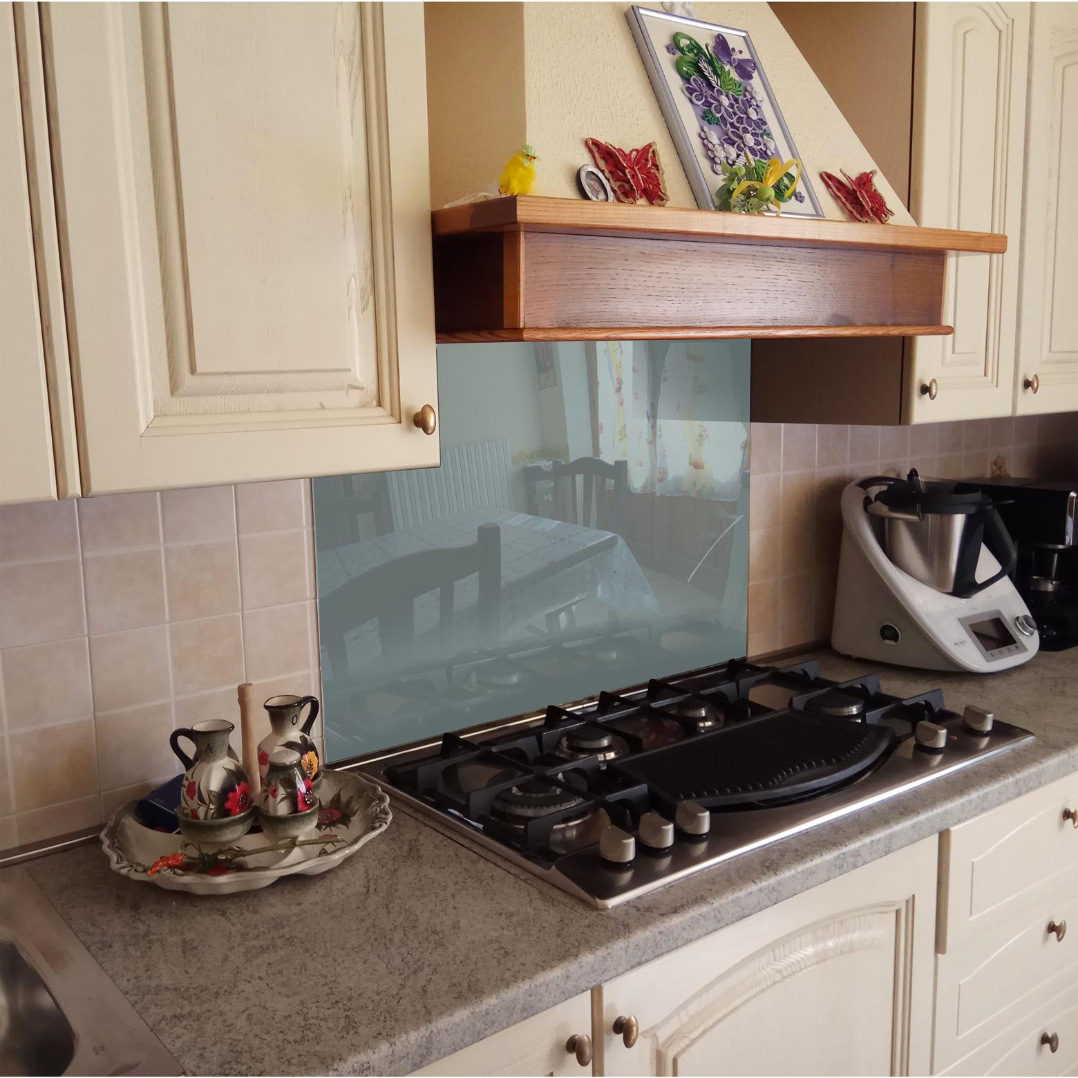 k chenr ckwand spritzschutz k che geh rtetes glas grau ebay. Black Bedroom Furniture Sets. Home Design Ideas