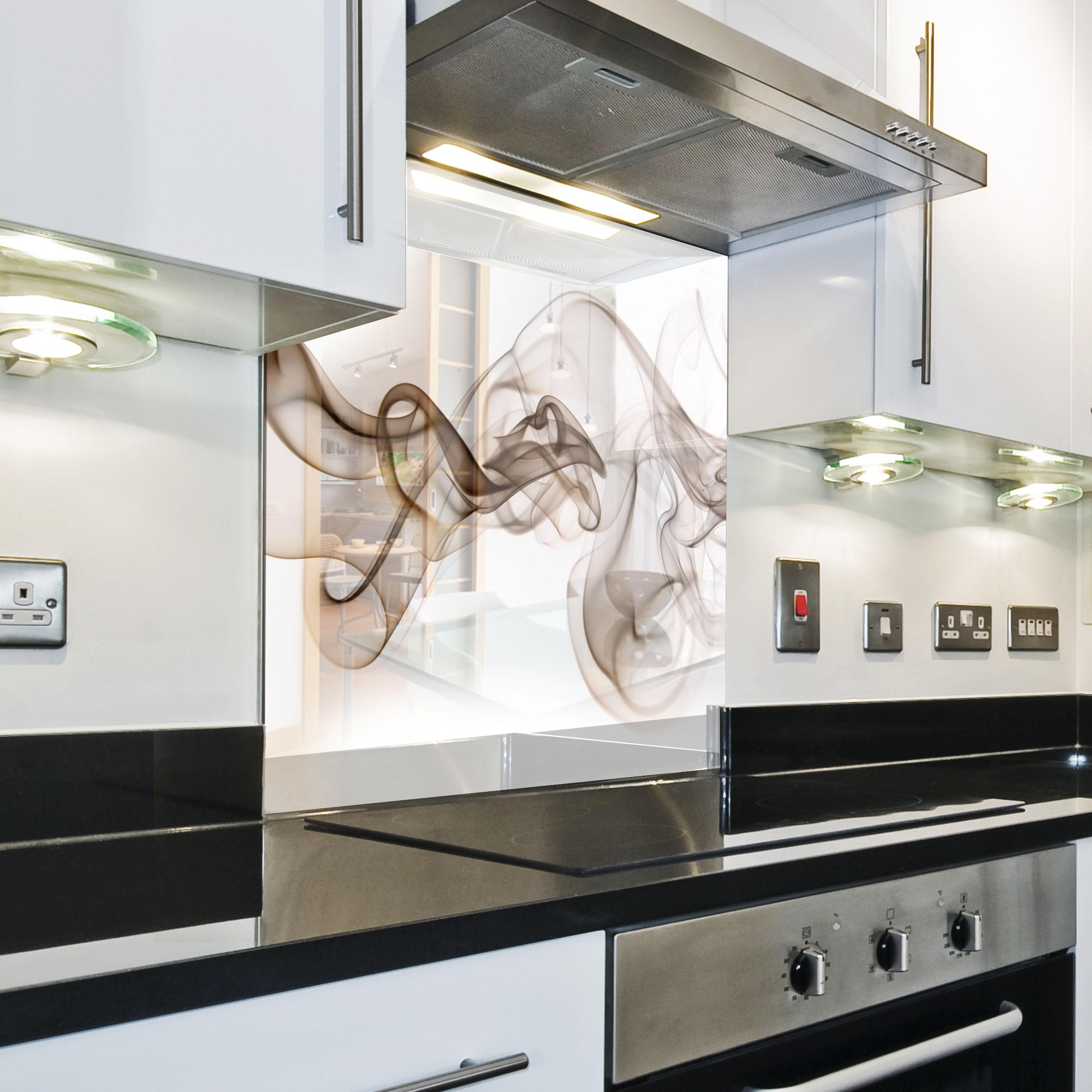 k chenr ckwand spritzschutz k che geh rtetes glas r ckwand vektor muster braun ebay. Black Bedroom Furniture Sets. Home Design Ideas