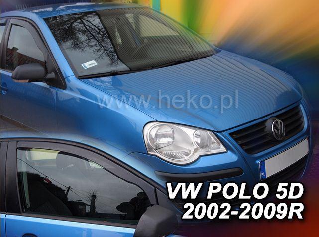 2 Deflettori Aria Antiturbo VW POLO  2002-2009 5 porte