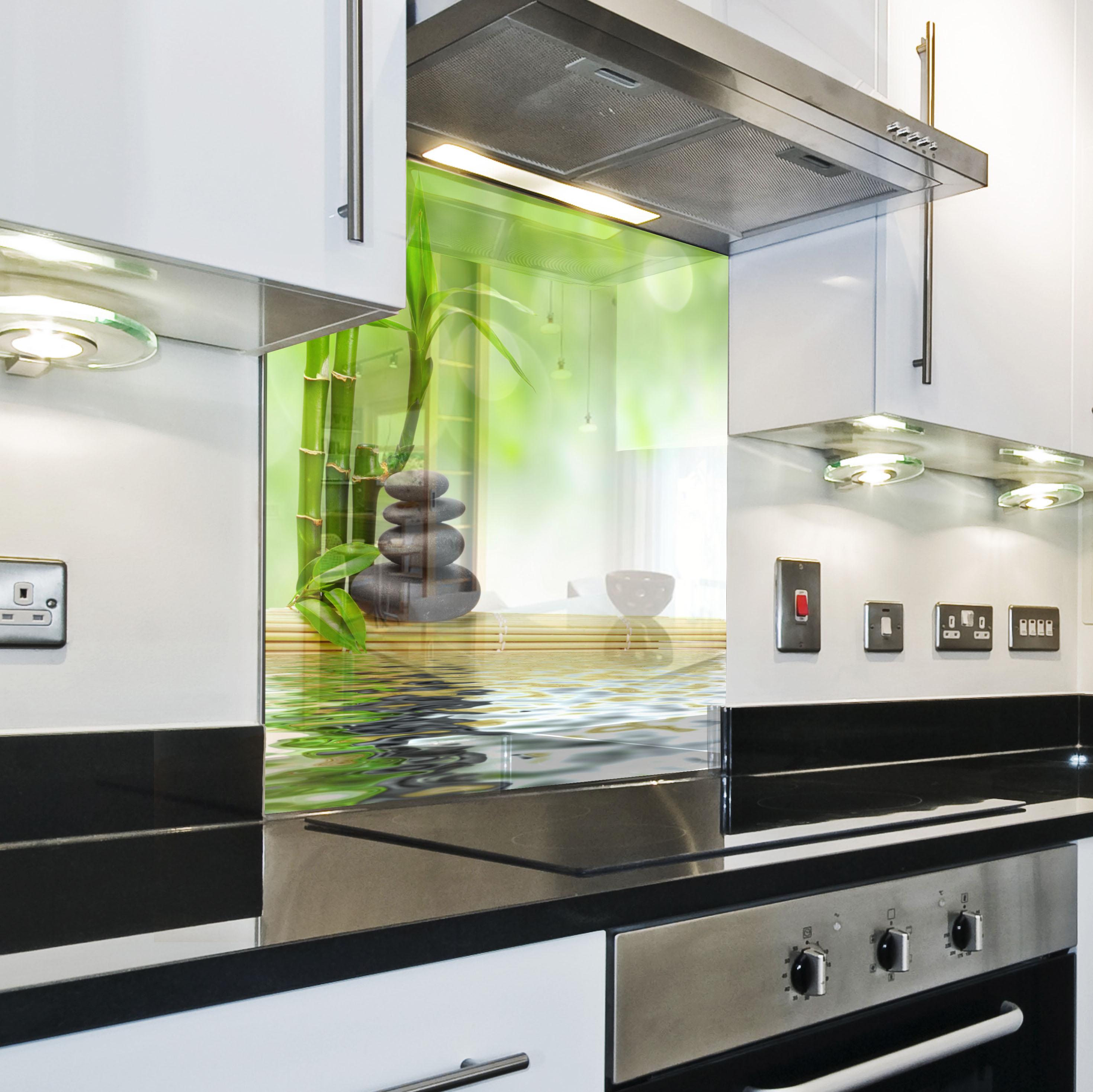 Splashback paraschizzi paraspruzzi rivestimento cucina foglia natura verde ebay - Pannello cucina rivestimento ...