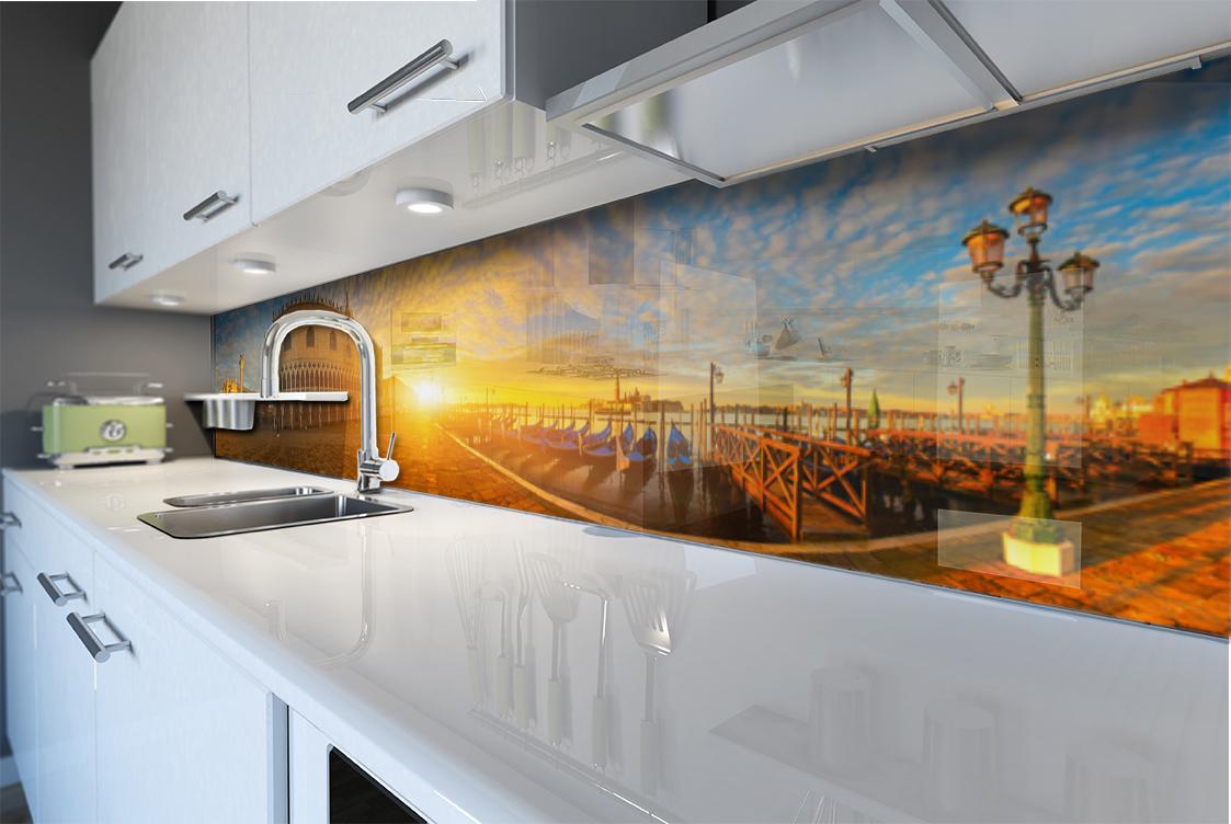 Pannello paraschizzi per rivestimento cucina citt tramonto venezia san marco ebay - Pannello cucina rivestimento ...