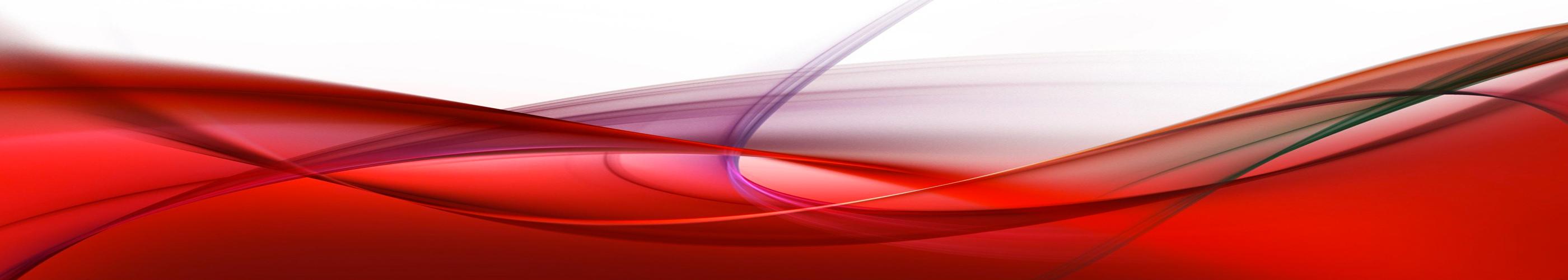 KÜCHENRÜCKWAND Spritzschutz Küche Gehärtetes Glas abstrakt rot Leitungen Weiß