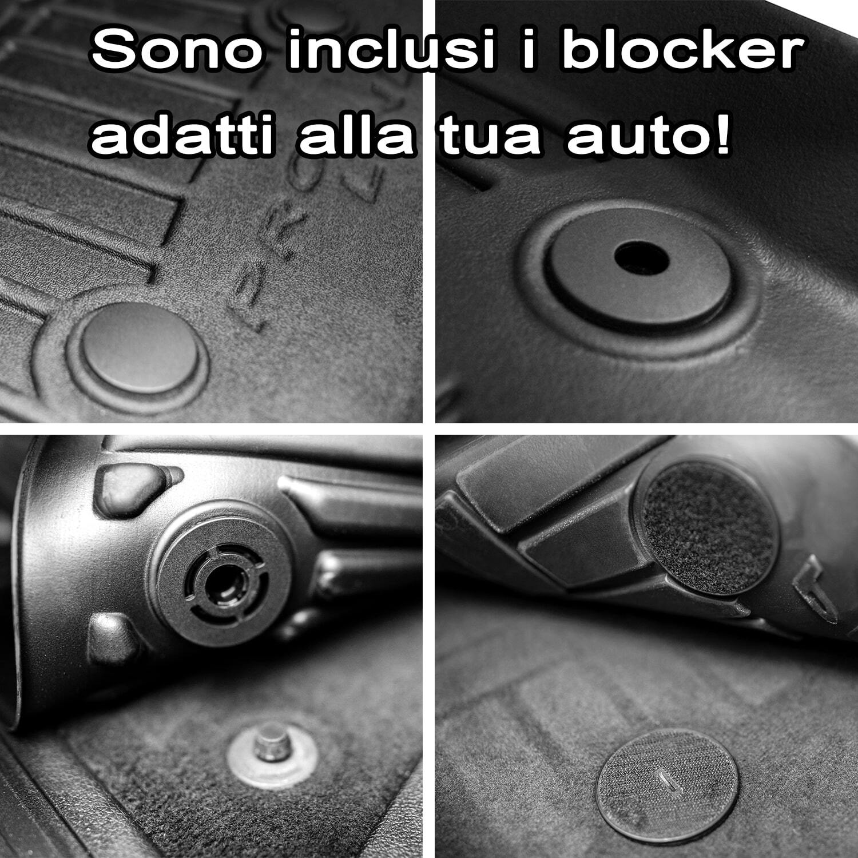miniatura 6 - Tappetini Tappeti PRO LINE 3D per Jeep Renegade / Fiat 500X 2014 in poi in gomma